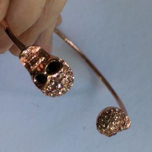Jewelry - Coppertone Sugar Skull Bangle